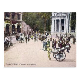 Old Postcard - Queen's Road, Hong Kong