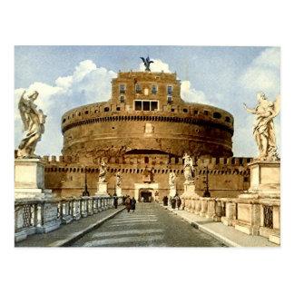 Old Postcard, Rome, Castel Sant'Angelo Postcard
