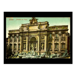 Old Postcard, Rome, Fontana di Trevi in 1908 Postcard