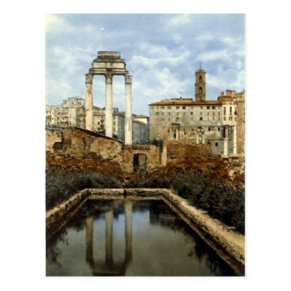 Old Postcard, Rome, Temple of Castor and Pollux Postcard