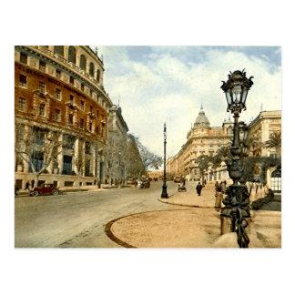 Old Postcard, Rome, Via Vittorio Veneto Postcard