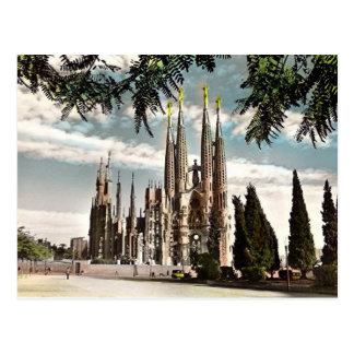 Old Postcard - Sagrada Familia, Barcelona