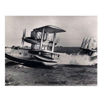 Old Postcard - Singapore Flying Boat
