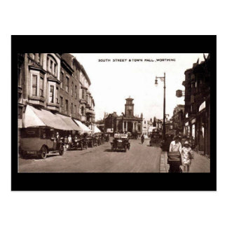 Old Postcard, South Street and the Town Hall, Wort Postcard