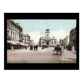 Old Postcard, South Street, Worthing, in 1909 Postcard