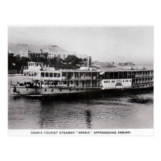 Old Postcard - Steamer at Aswan, Egypt
