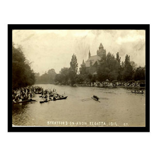 Old Postcard, Stratford-upon-Avon Regatta Postcard