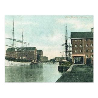 Old Postcard - The Docks, Gloucester