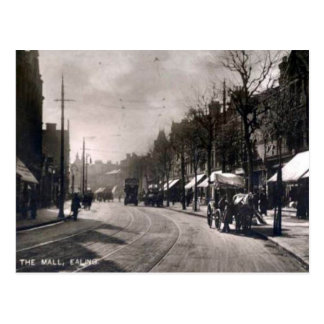 Old Postcard - the Mall, Ealing, London