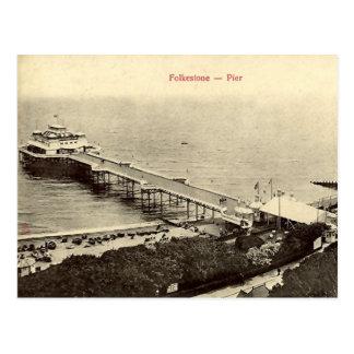 Old Postcard - The Pier, Folkestone