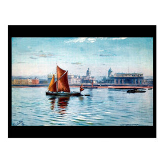 Old Postcard - The Thames at Greenwich.