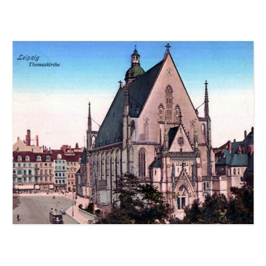 Old Postcard - Thomaskirche, Leipzig