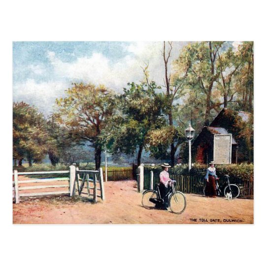 Old Postcard - Toll Gate, Dulwich, London