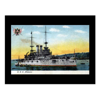 Old Postcard - USS Alabama