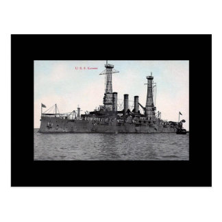 Old Postcard - USS Kansas