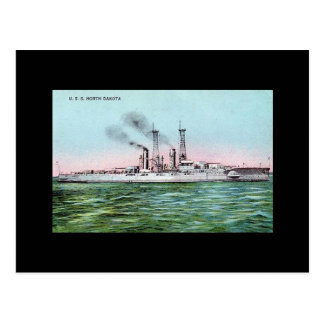 Old Postcard - USS North Dakota