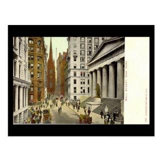 Old Postcard, Wall Street, New York City Postcard
