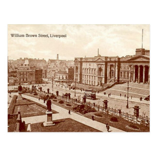 Old Postcard - William Brown Street, Liverpool