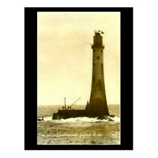 Old Postcard - Wolf Rock Lighthouse, Land's End