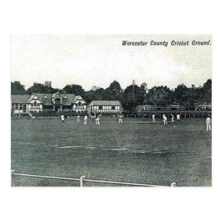 Old Postcard - Worcester Cricket Ground