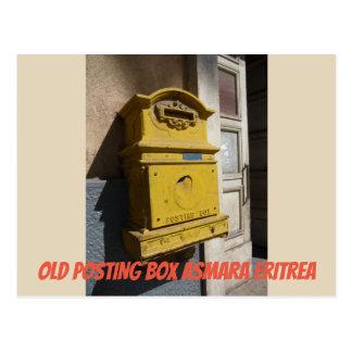 Old Posting Box Asmara Eritrea Postcard