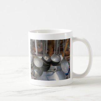 old pots and pans coffee mug