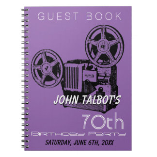 Old Projector 70th birthday Party GuestBook Notebook