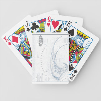 Old Provincetown Cape Cod Map Bicycle Playing Cards