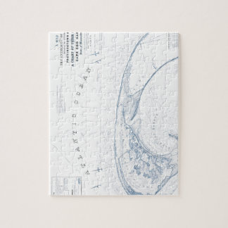 Old Provincetown Cape Cod Map Jigsaw Puzzle
