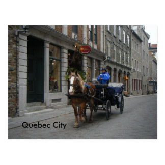 Old Quebec City Carriage Postcard