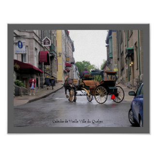 Old Québec City Horse-Drawn Carriage Poster