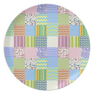 Old Quilt Party Plate