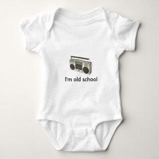 old radio, I'm old school Baby Bodysuit