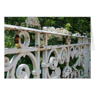 Old Rail and Hydrangeas Notecards Card