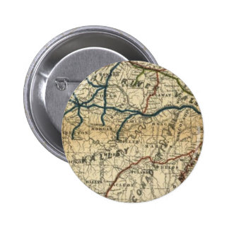 Old Railway Map 2 Inch Round Button