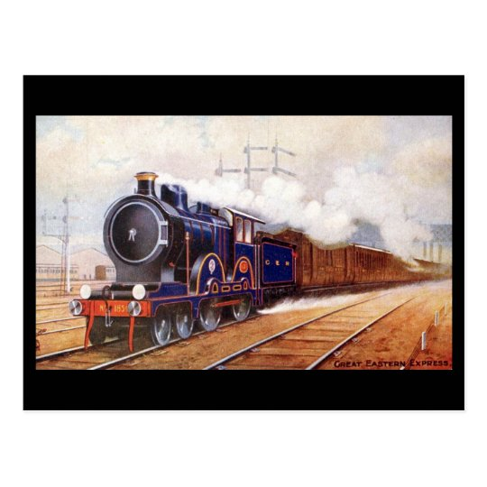 Old Railway Postcard - Great Eastern Express