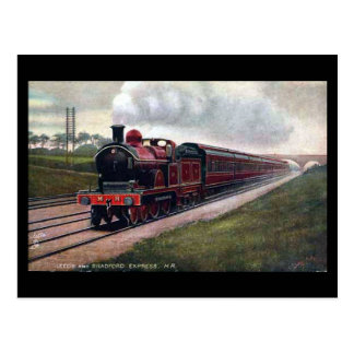 Old Railway Postcard - Leeds & Bradford Express