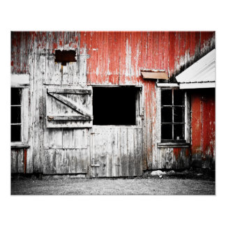 Old Red Barn Wall Poster