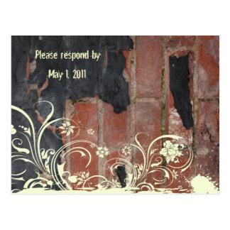 Old Red Brick rsvp Postcard