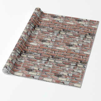 Old red brick wall wrapping paper