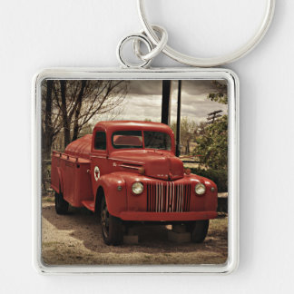 Old Red Fire Truck keychain