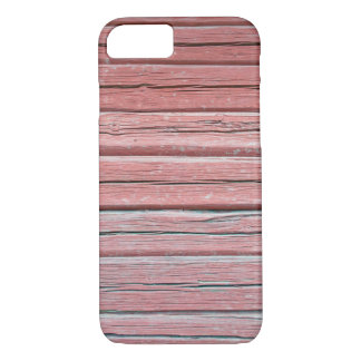 Old red plank wall iPhone 7 case