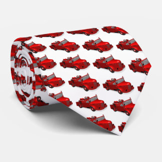 Old Red Vintage Fire Truck Tie