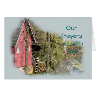 Old Red Watermill- customize any occasion Card