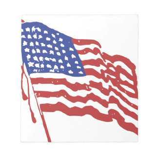 Old Red White and Blue Notepad