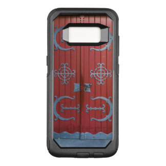 Old Red Wood Doors With Gray Iron Supports OtterBox Commuter Samsung Galaxy S8 Case