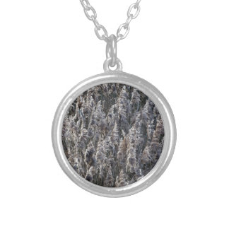 Old reed grass silver plated necklace