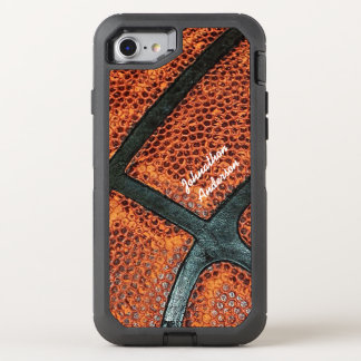 Old Retro Basketball Pattern With Name OtterBox Defender iPhone 7 Case
