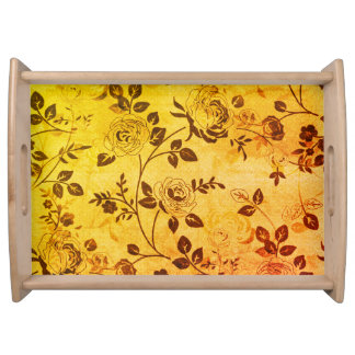 Old_Retro_Floral (c) Soft-Sun_Glow_ Large- Serving Tray