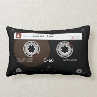 Old Retro Music Cassette MixTape Lumbar Pillow